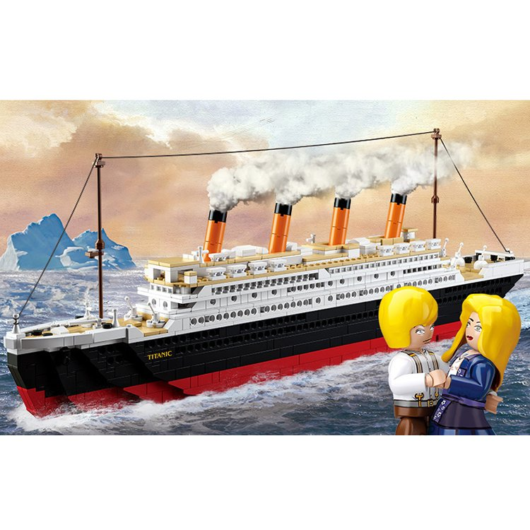 Lego Compatible Titanic Cruise Ship Vessel Love Couple Jack Rose Figure