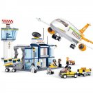 Lego City Compatible Airport Passenger Luggage Cargo Aircraft Plane