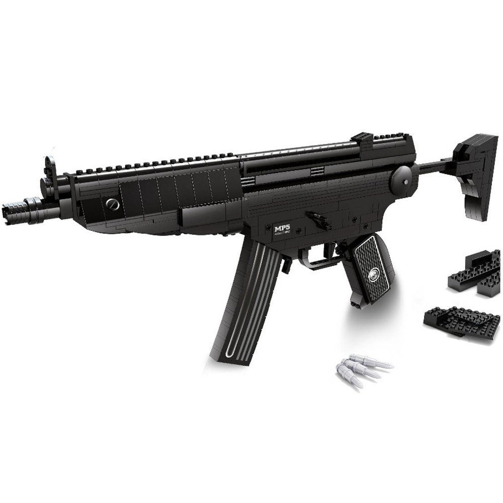 Ausini Police SWAT MP5 Submachine Rifle Gun Police Weapon Toy Lego Compatible