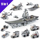 Sluban B0537 Military Army Cruise Ship Fighter Jet Tank Navy Lego Compatible Toy