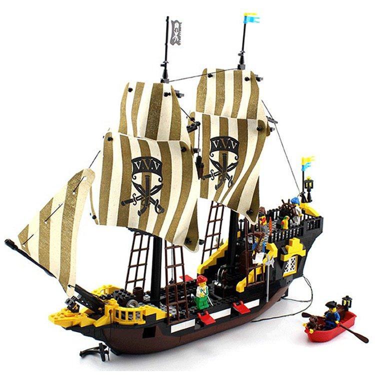 Enlighten Pirate Caribbean Ship Boat Treasure Captain Vessel Lego Compatible Toy