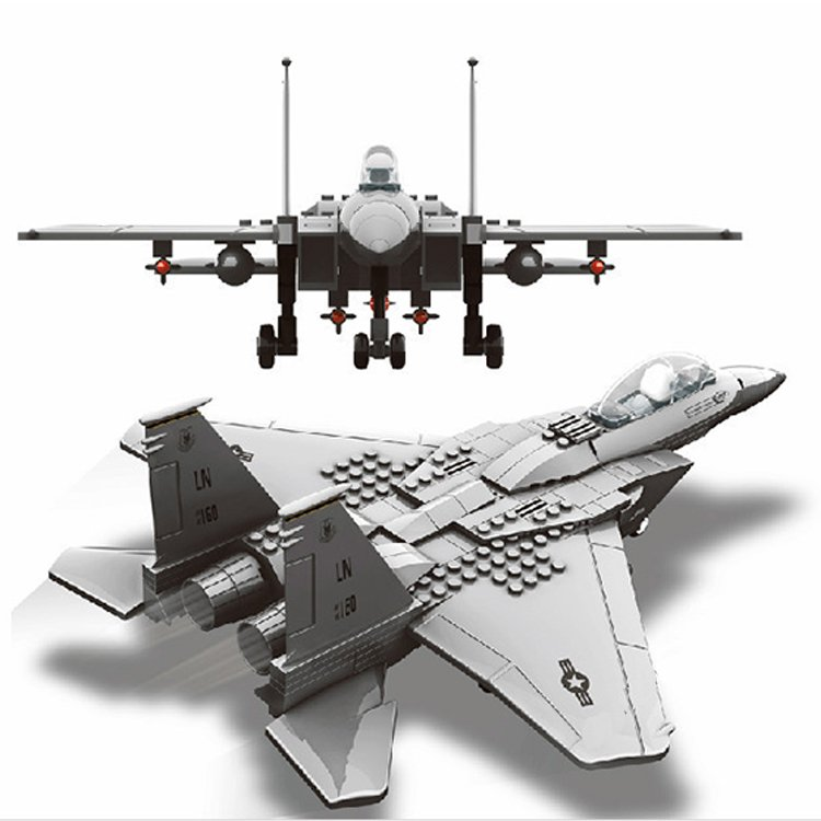 Wange Army Air Force F15 Eagle Fighter Jet Plane Aircraft Lego Compatible Toy