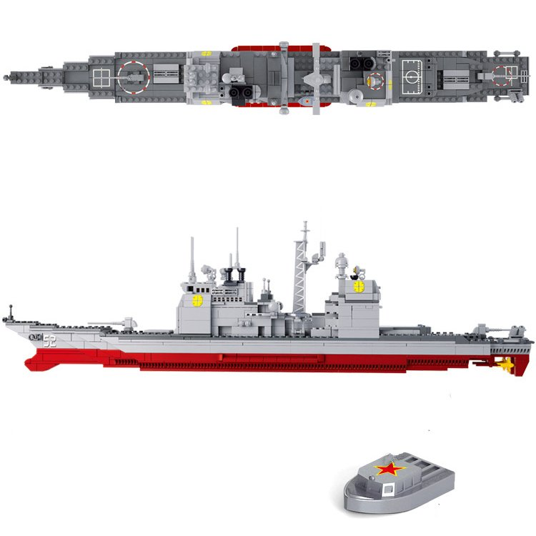 Lego Compatible Sluban Military Army War Navy Destroyer Battleship Boat Ship