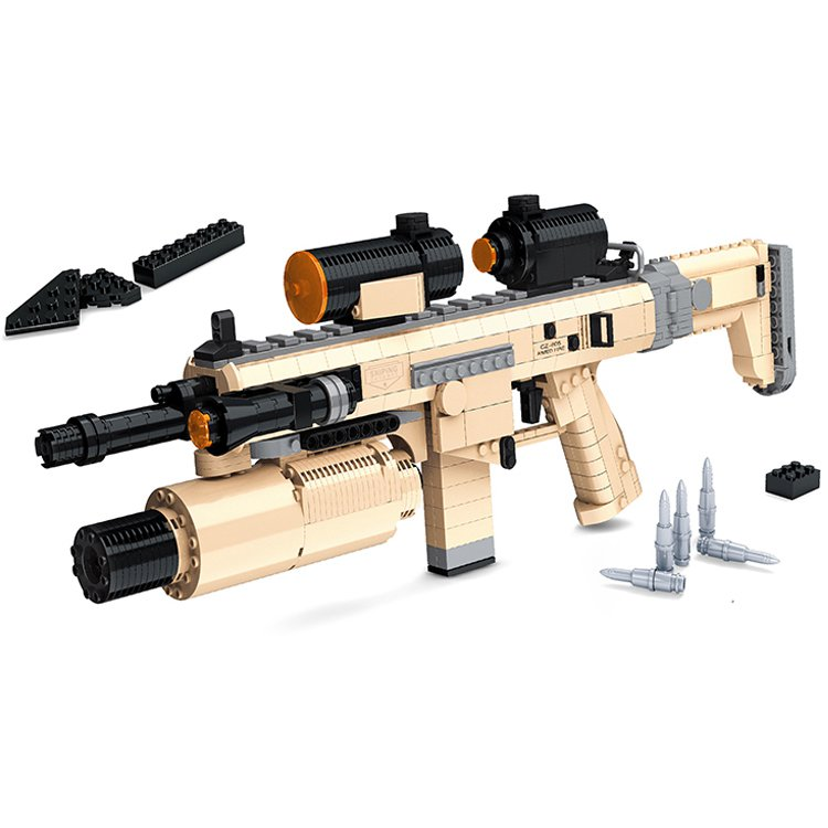 Lego Military Sets Compatible Police SWAT Military Rifle Machine Gun Weapon