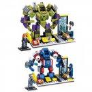 Lego Compatible Super Hero Marvel Captain America Hulk iron Steel Armor Suit