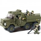 Sluban Military Army Transport Convoy Truck Vehicle Soldier Lego Compatible Toy