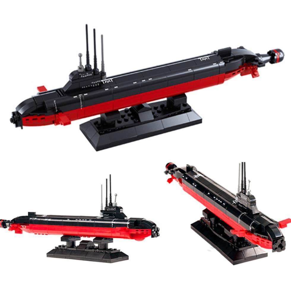 Navy Nuclear Missile Warship Submarine Ship Lego Compatible Toy
