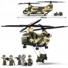 Military Army Battle Helicopter Plane Jeep Soldier Toy Lego Compatible