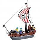 Caribbean Pirate Captain Sea Vessel Ship Cannon War Lego Compatible Toy