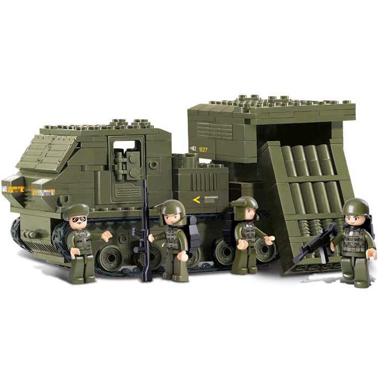 Sluban Military Army Battle War Missile Tank Truck Soldier Lego Compatible Toy