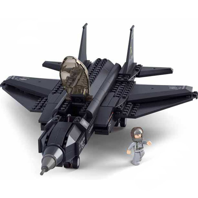 Army Air Force F35 Stealth Bomber Jet Aircraft Plane Lego Compatible Toy