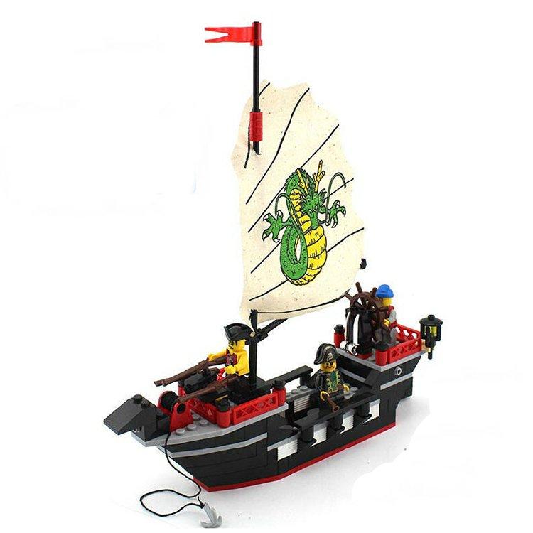 Caribbean Pirates Army Treasure Ship Dragon Vessel Lego Compatible Toy