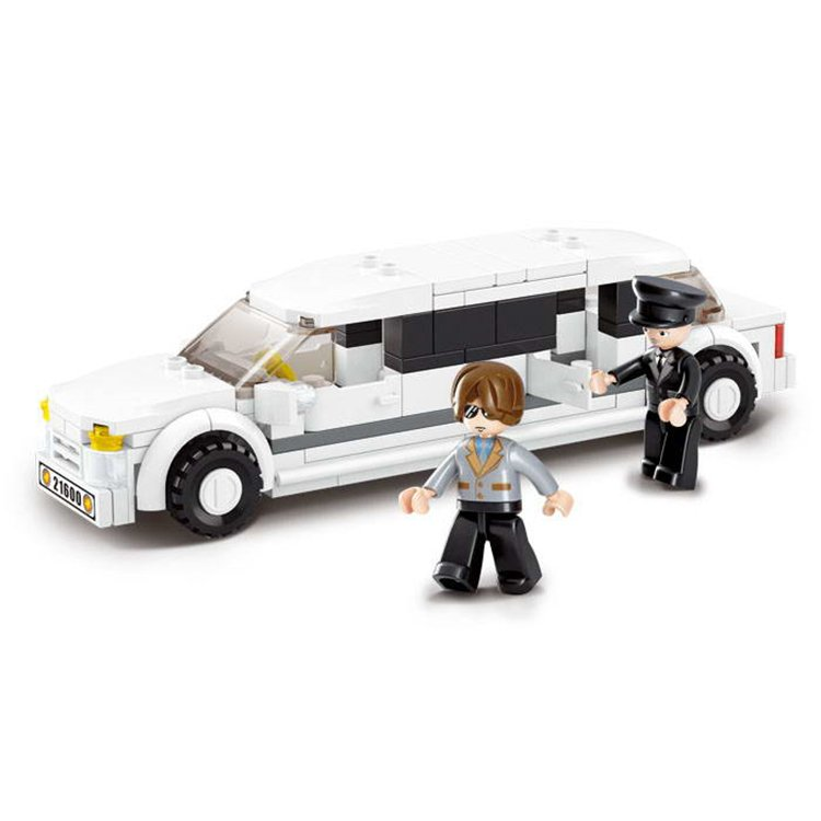 City Luxury Limousine Lincoln Wedding Car Driver Lego Compatible Toy