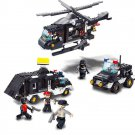 City Rescue Police Swat Patrol Helicopter Prison Jail Lego Compatible Toy