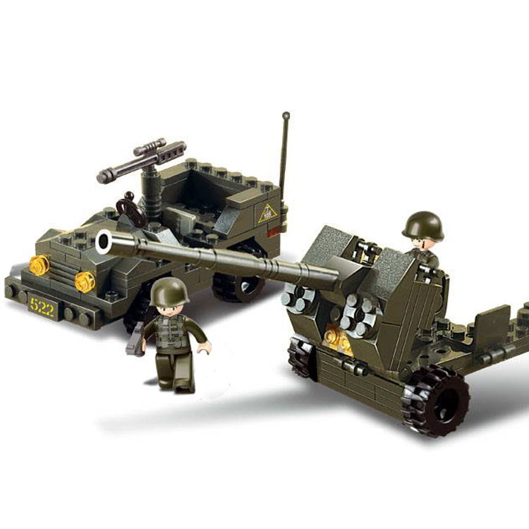 Military Army Battle Jeep Cannon Turret Soldier Lego Compatible Toy