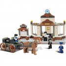 Western Railroad Railway Train Station Horse Chariot Lego Compatible Toy