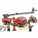 City Rescue Fire Fighter Fireman Engine Truck Station 911 Lego Compatible Toy