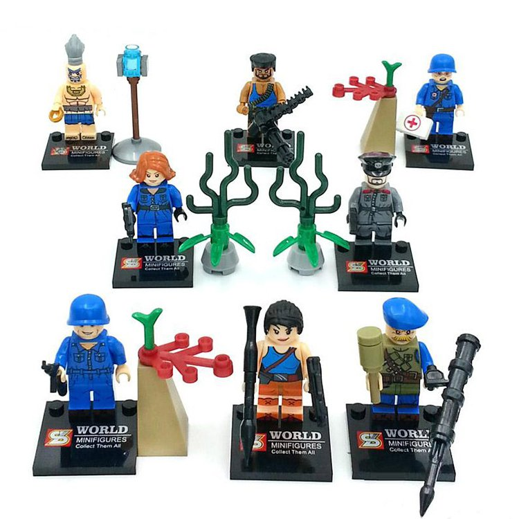 Super Hero Military Army Battle War Soldier Minifigure Compatible Lego Toy