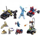 Super Hero Marvel Batman Freeze Spiderman Captain Vehicle Lego Compatible Toy