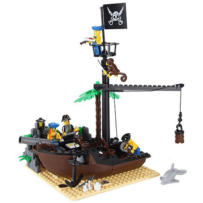 Pirates Caribbean Ship Wreck Treasure Island Fort Lego Compatible Toy