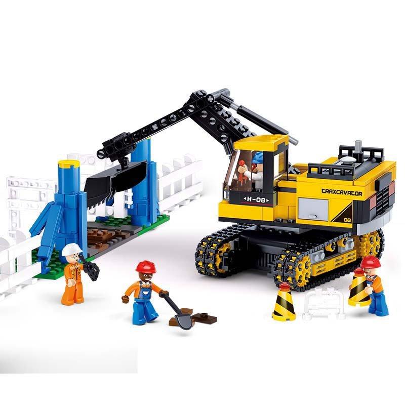 Road Construction Bulldozer Excavator Backhoe Lego Compatible Toy
