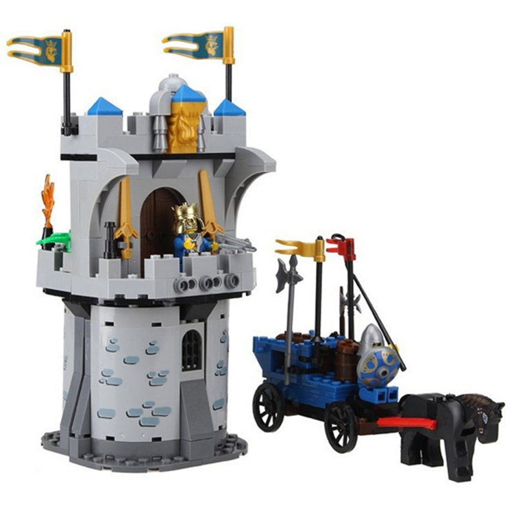 Medieval Castle Fort Siege Horse Carriage Chariot Soldier Lego Compatible Toy