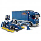 Forumla Prix Indy Car Racer Repair Transport Truck Lego Compatible Toy