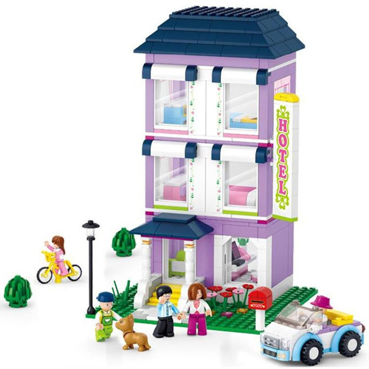 Lego City Compatible Toy Building Apartment Hotel Convertible Car