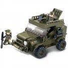 Military Army Battle War Car Jeep Machine Gun Soldier Lego Compatible Toy