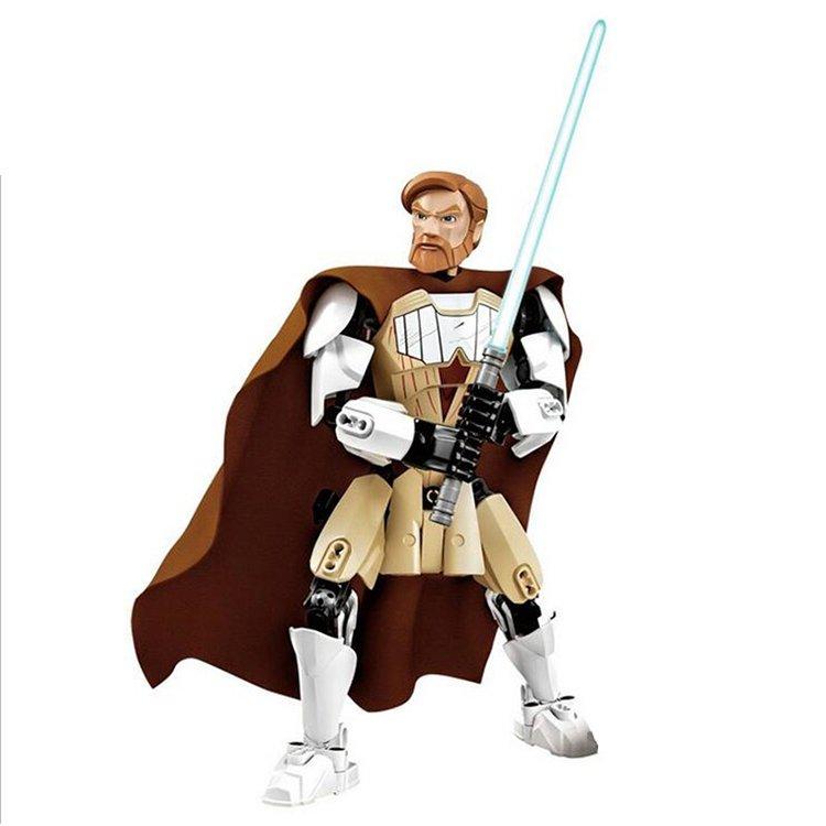 Star Wars Obi Wan Kenobi Jedi Warrior Light Saber Figure Lego Compatible Toy