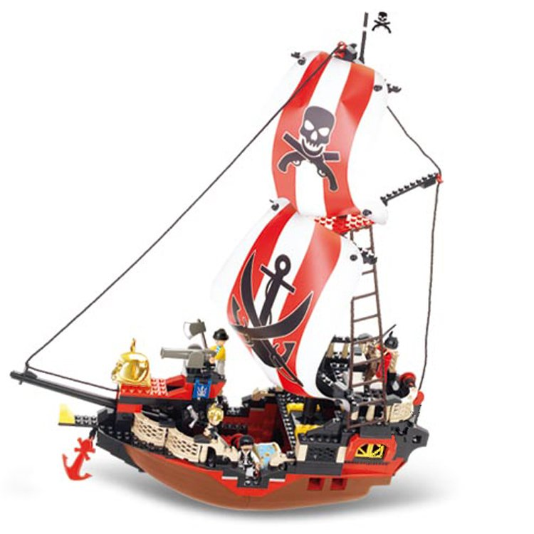 Caribbean Pirate Ship Army Castle Treasure Hunt Lego Compatible Toy