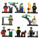 City Town Police Rescue Worker Pilot Minifigure Compatible Lego Toy