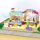 Lego City Compatible Toy Chef Food Restaurant Outdoor Cafe Beach Hotel
