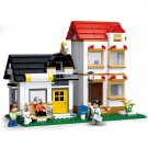 City Town Double Apartment Doll House Home Figure Lego Compatible Toy
