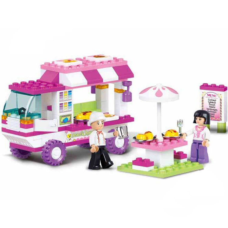 Lego Toy Food : Lego city compatible toy town drive by restaurant chef