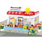 Lego Supermarket Compatible Toy City Grocery  Food Store Boutique Shop