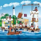 Lego Pirate Compatible Toy Caribbean Ship Attack Royal Harbor Fort Castle