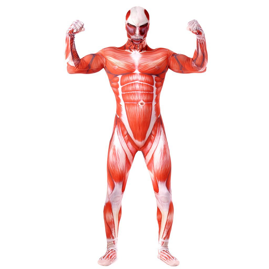 Muscle Costume Suit Attack on titan Bodysuiy Zentai Costume Cosplay
