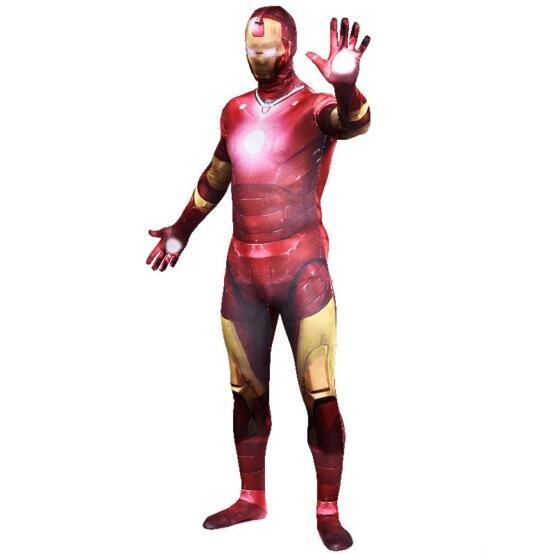 Ironman Cosplay Bodysuits for Adult, Halloween Costumes Gift