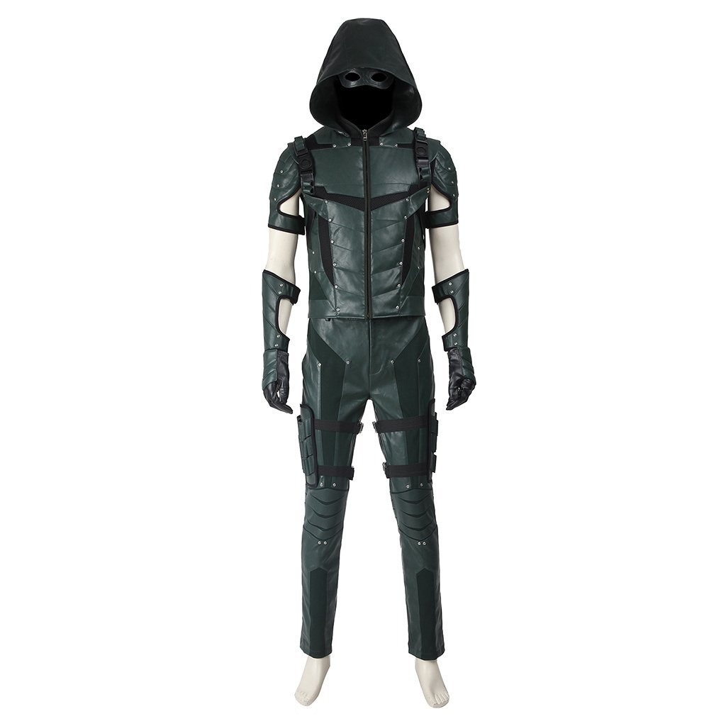 Green Arrow Season 4 Oliver Queen Costume Cosplay For Halloween Party for Men