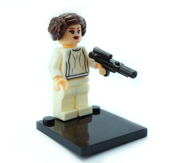 Star Wars Princess Leia Minifigure with Blaster Lego Compatible