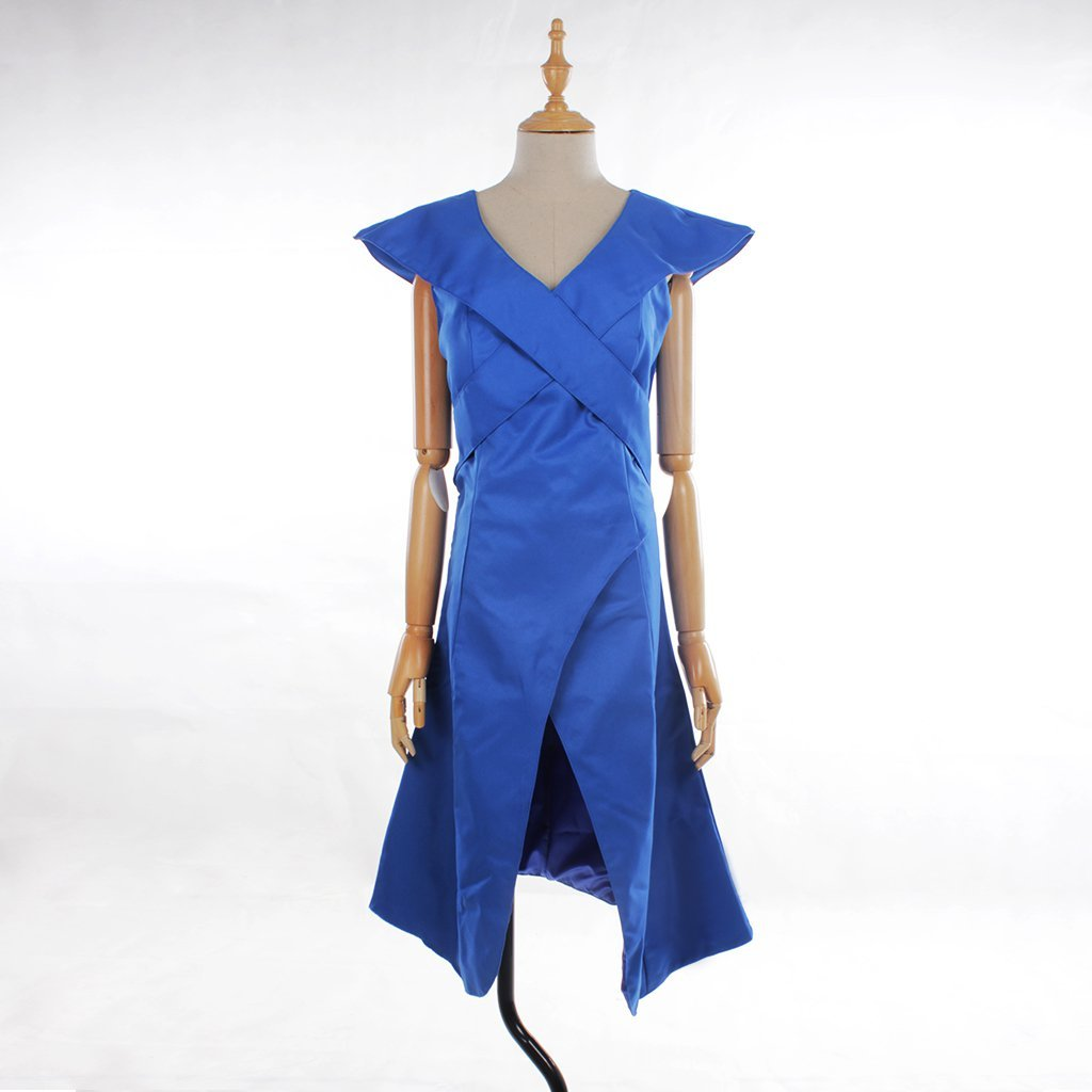 Game of Thrones Daenerys Targaryen Blue Dress  Women's Costume For Halloween Party