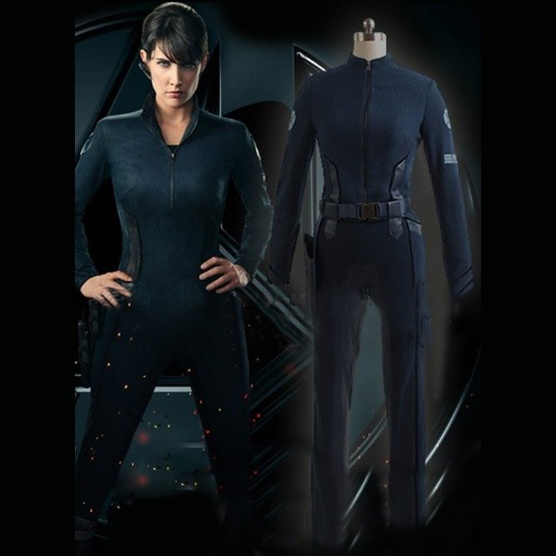 Men's Costume Agents of S.H.I.E.L.D. Deputy Director Maria Hill Outfit Halloween Cosplay