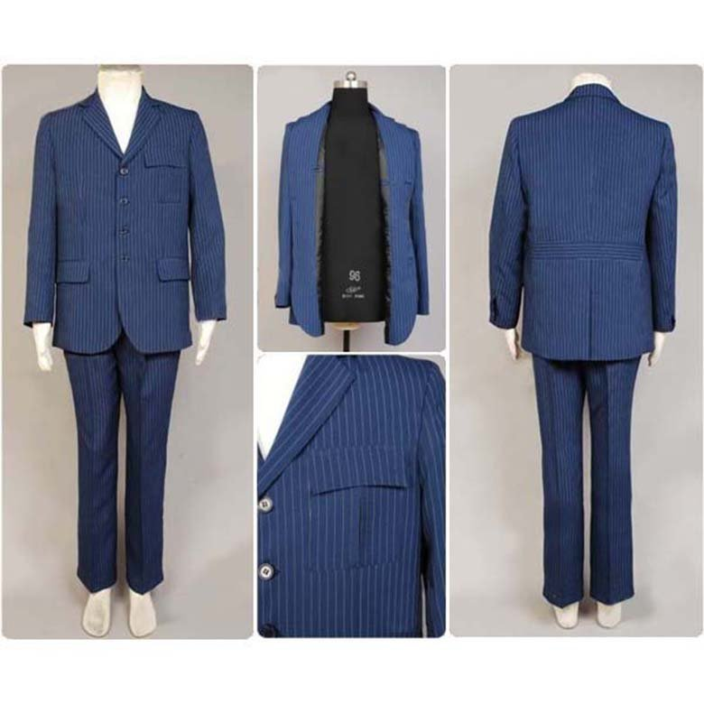 Doctor Who Dr Blue Suit Uniform Cosplay Men's Outfit Men's Cosplay Costumes