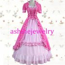 Pink Rococo Baroque Ball Gown Gothic Medieval Victorian Dress Lolita Cosplay