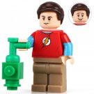 Sheldon Cooper THE BIG BANG Theory TV TBBT Lego Minifigure Compatible Toy