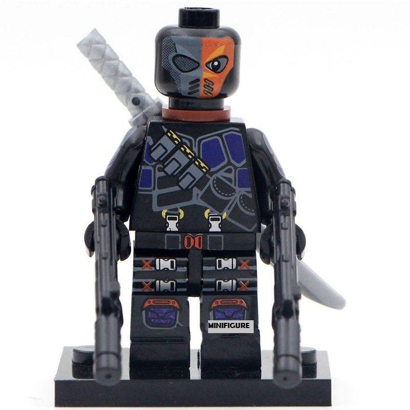 Deathstroke with Weapon Minifigures Lego Compatible toys action figure
