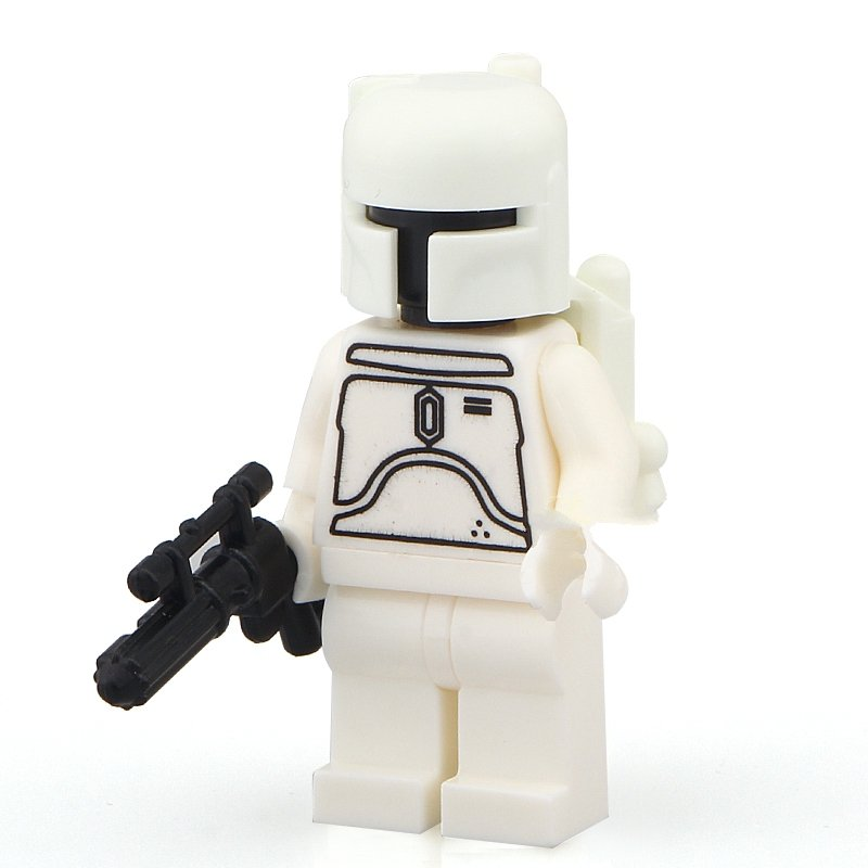 Star Wars minifigure White Boba Fett Lego minifigure Compatible toys
