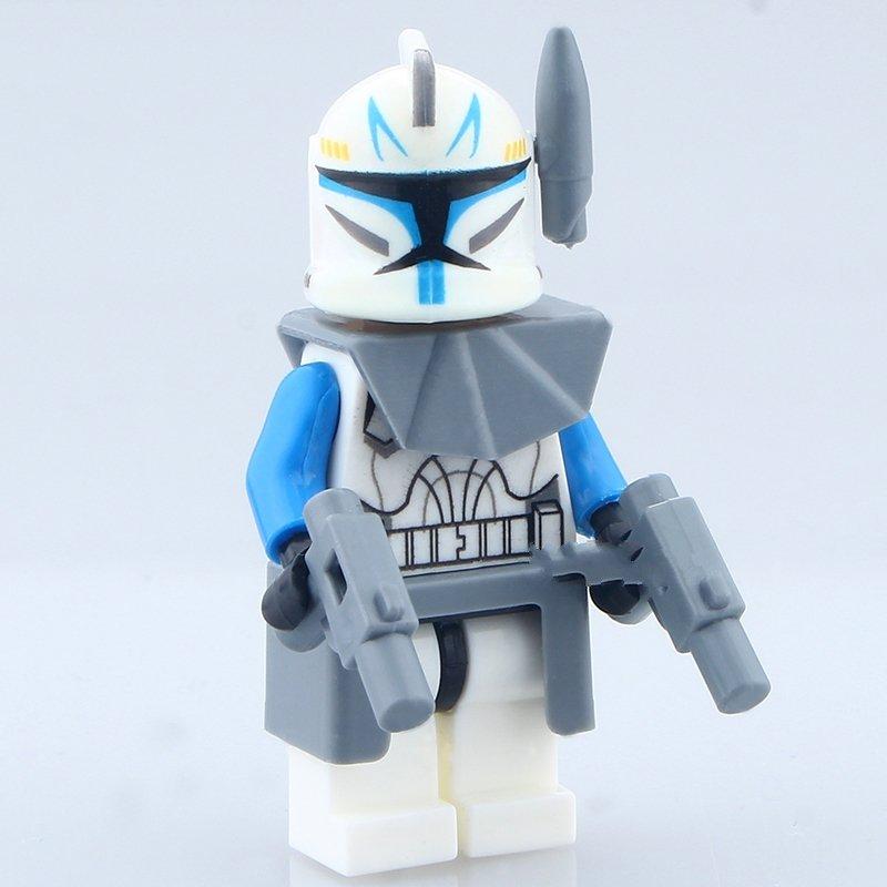 Lego Star Wars7 Minifigures Captain Rex Clone Trooper  Compatible toy