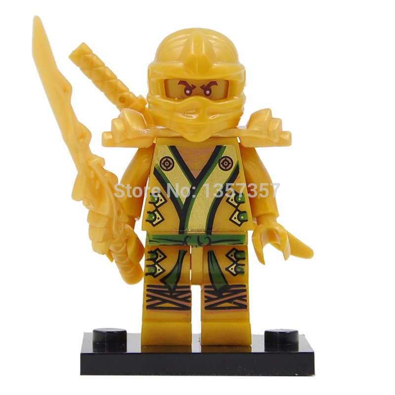 Golden Ninja Yellow Lloyd Minifigures Lego Compatible Toy